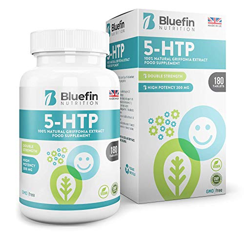 5-HTP Griffona Extrakt Tabletten, 200mg von Bluefin Nutrition