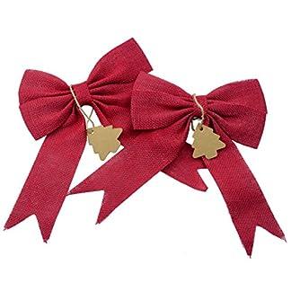 Makhry-Satz-von-2-Hochzeit-Dekor-Bgen-Weihnachtsbaum-Topper-Bogen-rustikale-Dekor-Sackleinen