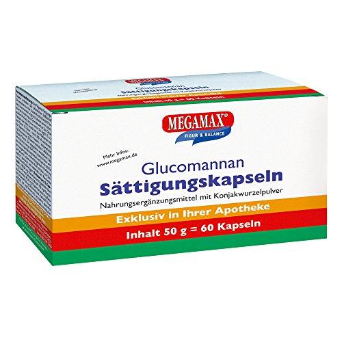 Sättigungskapseln Glucomannan MEGAMAX 60 Stk. zum Abnehmen
