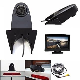 Dritte-Dach-Top-Mount-Bremsleuchte-Kamera-Rckfahrkamera-fr-MB-Sprinter-W906-Crafter-Ducato-Transit-und-viele-Typen-mehr-Transporterkamera-Komplettset-mit-43-Zoll-Monitor