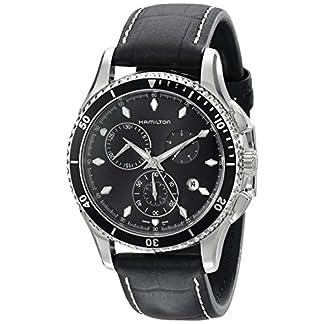 Hamilton-Herren-Chronograph-Quarz-Uhr-mit-Leder-Armband-H37512731