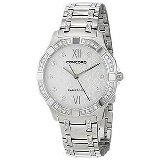 Concord-Damen-Datum-klassisch-Quarz-Uhr-mit-Edelstahl-Armband-320286
