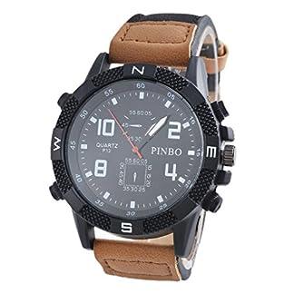 Souarts-Herren-Braun-Armbanduhr-Sportuhr-Besondere-Zifferblatt-Quartz-Analog-Armreif-Uhr-mit-Batterie
