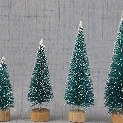 Queenaal-DIY-Weihnachtsbaum-Kleine-Kiefer-Mini-Bume-Weihnachtsdekoration-blau-grn-16cm