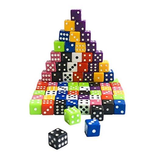KURTZY-80-Stck-Acryl-Multi-farbige-sechs-seitige-opake-Spot-Dice-mit-extra-Trage-Samttasche-80-x-15-mm-ideal-fr-Brettspiel-Classic-in-Lehre-Mathe-Mathe-Spiele-Backgammon-und-Casino-Nights