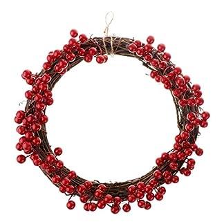 B-Blesiya-Beeren-Weihnachten-Trgirlande-Tannengirlande-Trkrnze-Wandkranz-Weihnachtsdekoration