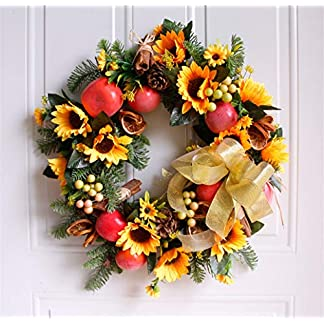 Liveinu-Knstlicher-Blumen-Trkranz-Frhlingskranz-Weihnachtskranz-Weihnachts-Trkranz-Weihnachtsdeko-mit-Grapevine-Base