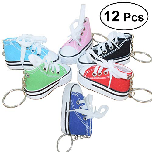TOYMYTOY-Mini-Canvas-Sneaker-Schuh-Keychain-Schlsselanhnger-fr-Frauen-Girl-Souvenir-Geschenk-Pack-von-12-Zufllige-Farbe