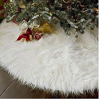 TOSSPER-Neujahr-Outdoor-Dekor-Ereignis-Party-Baum-Rcke-Kreative-Wei-Plsch-Weihnachtsbaum-Rcke-Pelz-Teppich-Weihnachtsdekoration