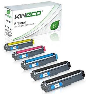 Kineco-5-Toner-kompatibel-fr-Brother-TN-242-TN-246-fr-Brother-DCP-9017CDWG1-9017CDWG1-9022CDW-HL-3142CW-3152CDW-3172CDW-MFC-9142CDN-9342CDW-9332CDW-Schwarz-je-2500-Seiten-Color-je-2200-Seiten