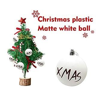 FeiliandaJJ-Christbaumkugeln-124PCS-6CM-Weihnachtskugel-Matte-weie-Kugel-Weihnachten-Deko-Anhnger-Christbaumkugeln-fr-Weihnachtsbaum-Party-Home-Hochzeit