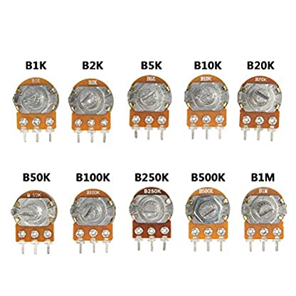 QLOUNI-10-Stk-Einzelpotentiometer-3PIN-Drehpotentiometer-Terminal-linear-10-Typen-Potentiometer-fr-Arduino-Raspberry-B1K-B2K-B5K-B10K-B20K-B50K-B100K-B250K-B500K-B1M