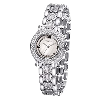 Time100-Strass-Damen-Armbanduhr-Mdchenuhr-Damenuhr-Gold-W50324L03A