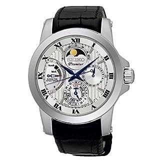 Seiko-Herren-Armbanduhr-Analog-Handaufzug-Leder-SRX011P2