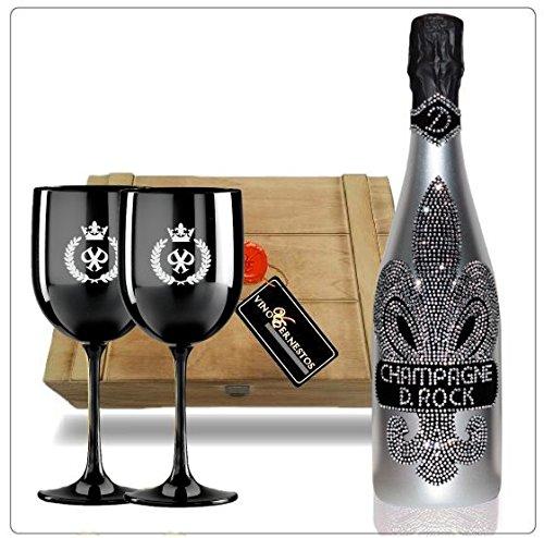 D-Rock-Luxus-Champagner-Geschenkset-inkl-2-schwarzer-Champagnerglsern-mit-silbernem-Emblem-gesiegelter-Vintage-Holzkiste-Das-Luxus-Geschenk-fr-Mnner-und-Frauen