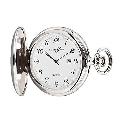 Hermann-Jckle-Tbingen-Quarz-Taschenuhr-mit-Datumsanzeige-incl-Kette-Uhrenbox