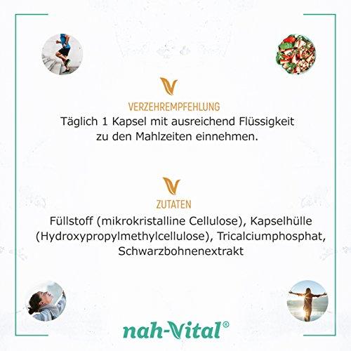 nah-vital 5-HTP | 20nah-vital 5-HTP | 200 Kapseln mit je 20mg 5-HTP | vegan, kristallzuckerfrei, laktosefrei | geprüfte deutsche Premiumqualität0 Kapseln mit je 20mg | vegan, kristallzuckerfrei, laktosefrei | geprüfte deutsche Premiumqualität