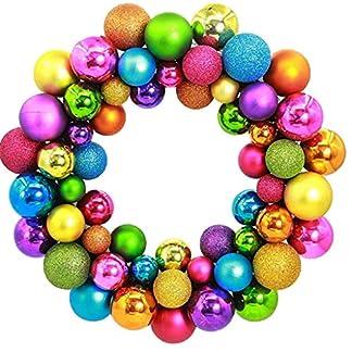 Bascar-Weihnachtskranz-Weihnachts-Kugelkranz-Trkranz-Schmuck-Weihnachtsdeko-Christbaumkugeln-Deko-Kranz-Tr-Wand-Ornament-Girlande-Dekoration-Neujahr-Dekor
