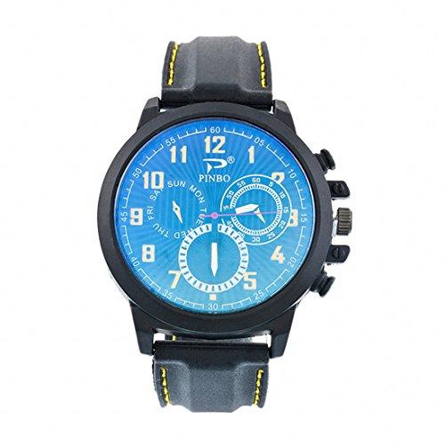Souarts-Herren-Armbanduhr-Einfach-Stil-Sport-Analoge-Quarz-Uhr