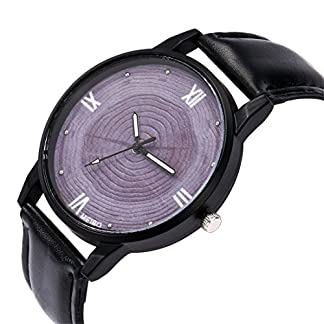 Godagoda-Herrenuhr-Analog-Quarz-Armbanduhr-Casual-Elegant-Mode-mit-Baumstamm-Zifferblatt-und-Leder-Armband-Uhr