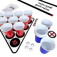Premium-Beer-Pong-Set–Stabile-Becher-und-Blle–Aufkleber-fr-Spielfeld–16-oz-American-Cups–Wiederverwendbar-und-Splmaschinenfest–fr-Party-Turniere-Geburtstag