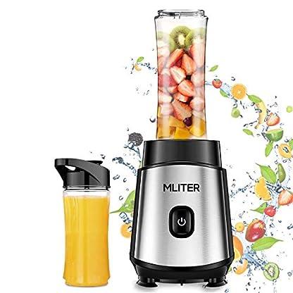Standmixer-500W-mini-Standmixer-MLITER-Smoothie-Maker-mit-2-Trinkflaschen-BPA-Frei-Edelstahl