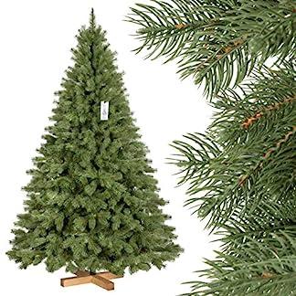 FairyTrees-knstlicher-Weihnachtsbaum-KNIGSFICHTE-Premium-Material-Mix-aus-Spritzguss-PVC-inkl-Holzstnder-FT18