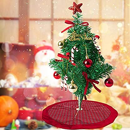 waspde-Youngsown-2019-Rot-Weihnachtsbaumrock-Karierter-Weihnachtsbaum-Rock-Weihnachtsbaumdecke-Baumdecke-Christbaumstnder-Decke-Weihnachtsschmuck-Weihnachtsdeko-100CM-trusted
