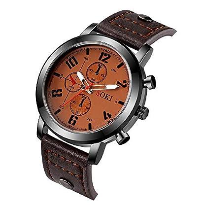 Armbanduhr-herren-Liusdh-Uhren-Retro-Leader-Band-schlanke-minimalistische-rote-helle-Skala-Herrenuhr-uhr