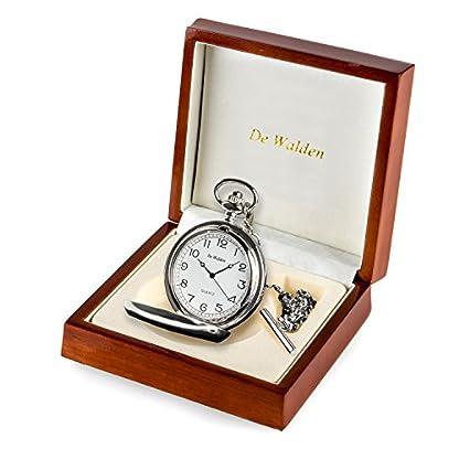 Jungen-Taschenuhr-zur-Erstkommunion-in-einer-Luxus-Geschenkbox-aus-Holz