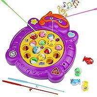 Elektrisch-Fisch-Form-Angelspiel-Familienspiel-Fischfang-Spiel-mit-Musik-Kinderspielzeug-fr-Kinder-ab-3-Jahren