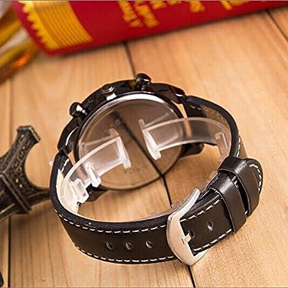 Yogogo-Herren-Luxus-Quartz-Analog-Armbanduhr-1-Cent-Artikel-Lederband-Dekoration-Geschenk-Metallgehuse-Quarzwerk-2cm-Bandbreite-24cm-Bandlnge