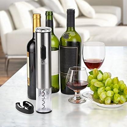 Elektrischer-Korkenzieher-Kealive-Weinffner-Flaschenffner-mit-Freien-Folienschneider-fr-Weinflaschen-Korkenheber-Set-ohne-Batterien-Edelstahl-Silber