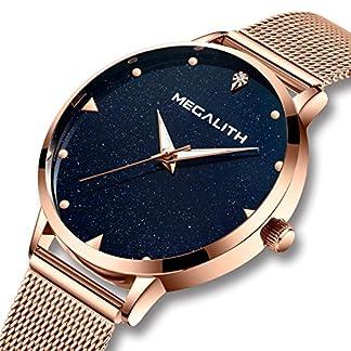 Damen-Uhr-Damenuhren-Wasserdicht-Dnne-Mesh-Edelstahl-Armbanduhr-Frauen-Mdchen-Blau-Modisch-Elegant-Analog-Uhren