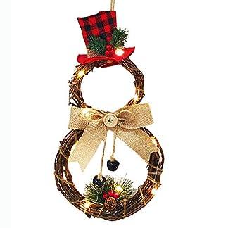 YOUNICER-Weihnachtsdekorations-Haushalts-Blumen-Kranz-der-LED-Kranz-Wand-Tr-Hngenden-WeihnachtsKranz-Hngt