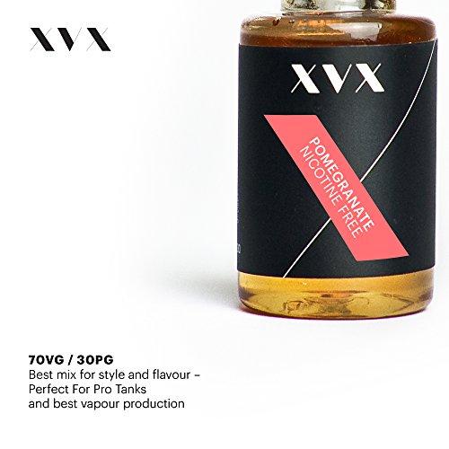 XVX E-Liquid  Granatapfel Geschmack  Elektronisches Liquid Für E-Zigarette  Elektronische Shisha Liquid  10ml Flasche  Nadelspitze  Präzise Befllung  Wähle Deinen Lifestyle  Neu Für 2016  Digitaler Rauch  Nikotinfrei  Tabakfrei