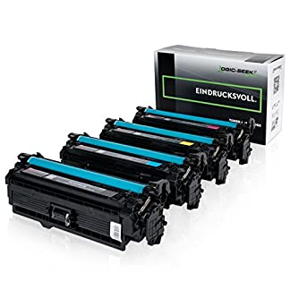 4-Original-Logic-Seek-Green-Toner-kompatibel-zu-HP-CE250X-CE253A-Color-Laserjet-CM3530-CP3525-Series