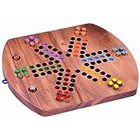 Ludo-fr-6-Spieler-Wrfelspiel-Gesellschaftsspiel-Familienspiel-aus-Holz-mit-klappbarem-Spielbrett