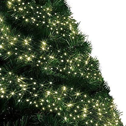 Cluster-Lichter-480-LED-Warmen-weien-Baum-Lichter-Innen-und-auen-Weihnachts-String-Leuchten-8-Modi-mit-Timer-Funktion-Netzbetriebene-Lichterketten-6M20ft-Lit-Lnge-grnes-Kabel