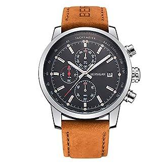 BERSIGAR-Herren-Geschft-Beilufig-Chronograph-Wasserdicht-Quarz-Armbanduhr