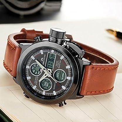 Herren-Uhren-Militr-Sport-Wasserdichte-Chronograph-Analog-Digital-Gro-Armbanduhr-Mnner-Dual-Display-LED-Licht-Stoppuhr-Shock-Resistant-Casual-Armbanduhren-mit-Braun-Echtes-Lederband