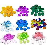 Kbsin212-100-Stck-Farbige-Zhlen-Spielchips-Plastechips-Bingo-Chips-Kunststoff-Marker-Zhler-Zhlen