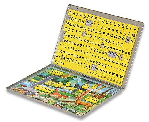 Betzold-86570-Lese-Magnetbox-mit-213-Buchstaben-Blcken-Lesen-lernen-Lesebox-Deutsch-Unterricht-Kinder-Grundschule