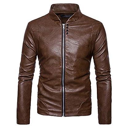 Jacke-Ledermantel-Motorradjacke-Reaso-Herren-Jacke-Biker-Authentic-Mantel-Herbst-Winter-Cardgian-Coat-Warm-Biker-Motorrad-Zipper-Outwear-Chic-Pullover-Bluse-Hoodie-Vintage-Vest