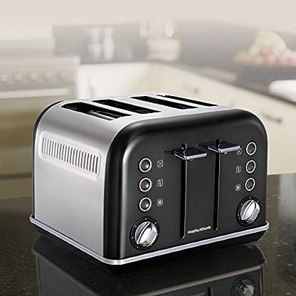 Morphy-Richards-Accents-Toaster-4-Schlitz-schwarz