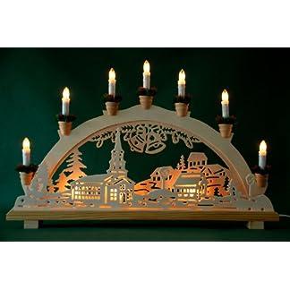 Schwibbogen-Lichterbogen-Dorf-und-Glocken-10flammig-innenbeleuchtet-Weihnachten-Advent-Geschenk-Dekoration-10767