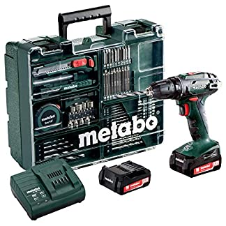 Metabo-60220688-144-Set-Workshop-74-Acc-BS-144-Mobile-Werkstatt-20-Ah-10-mm-SC-60-Plus-144-V