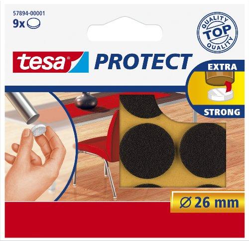 tesa® Protect Filzgleiter, rund, braun, Ø26mm, 9 Stück