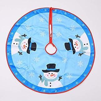 ZHAOLV-1-STCK-Schne-Blaue-Stampa-Weihnachtsbaum-Rock-Baum-Abdeckung-Decor-Schneemann-Weihnachtskleid-Dekoration