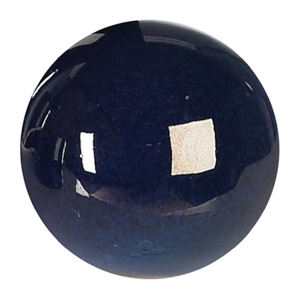 Dekokugel-mit-reaktiver-Glasur-nachblau-9-cm-Deko-Kugel-Keramik